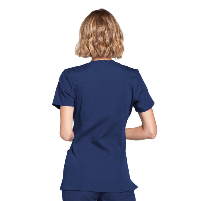 Cherokee Workwear WW650 Scrubs Top Women's Mock Wrap Navy 3XL