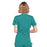Cherokee Workwear WW650 Scrubs Top Women's Mock Wrap Teal Blue 3XL