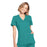 Cherokee Workwear WW650 Scrubs Top Women's Mock Wrap Teal Blue