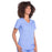 Cherokee Workwear Professionals WW655 Scrubs Top Women's Mock Wrap Ciel Blue 5XL