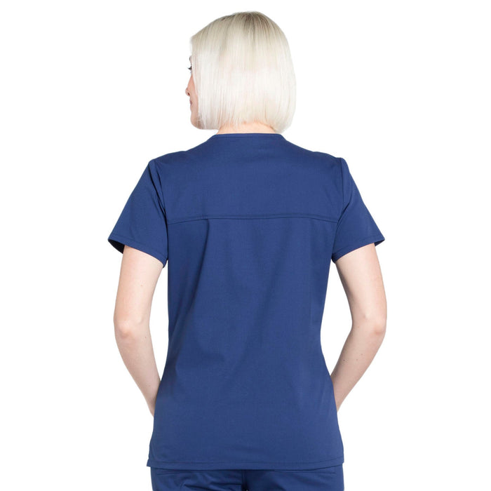 Cherokee Workwear Professionals WW655 Scrubs Top Women's Mock Wrap Navy 3XL