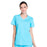 Cherokee Workwear Professionals WW655 Scrubs Top Women's Mock Wrap Turquoise
