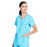 Cherokee Workwear Professionals WW655 Scrubs Top Women's Mock Wrap Turquoise 4XL