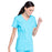 Cherokee Workwear Professionals WW655 Scrubs Top Women's Mock Wrap Turquoise 5XL