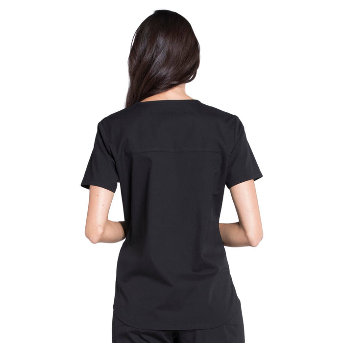 Cherokee Workwear Professionals WW665 Scrubs Top Women's V-Neck Black 3XL