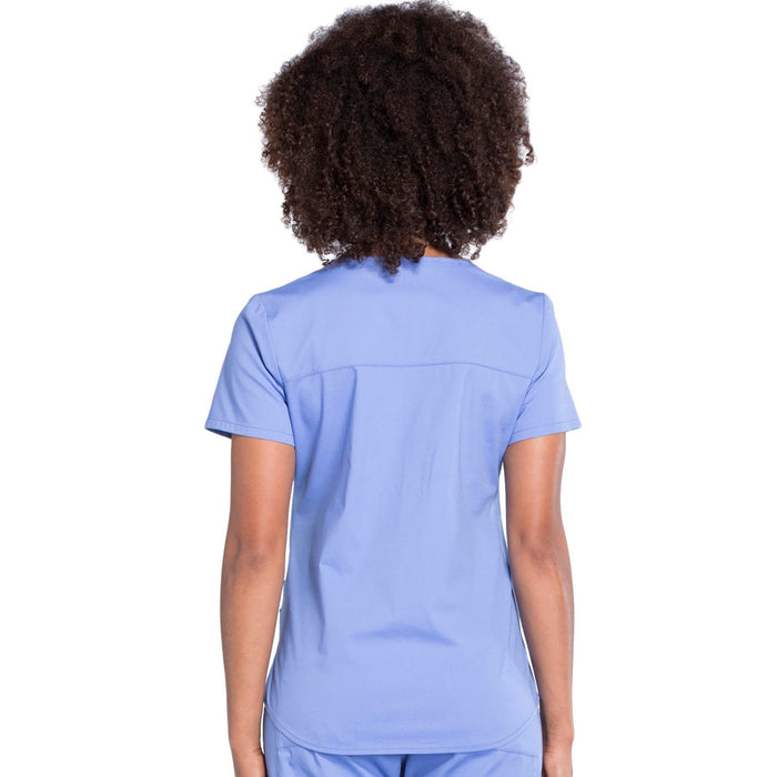 Cherokee Workwear Professionals WW665 Scrubs Top Women's V-Neck Ciel Blue 3XL