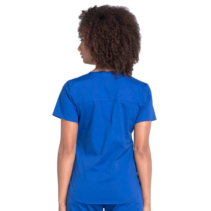 Cherokee Workwear Professionals WW665 Scrubs Top Women's V-Neck Galaxy Blue 3XL