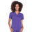 Cherokee Workwear Professionals WW665 Scrubs Top Women's V-Neck Grape