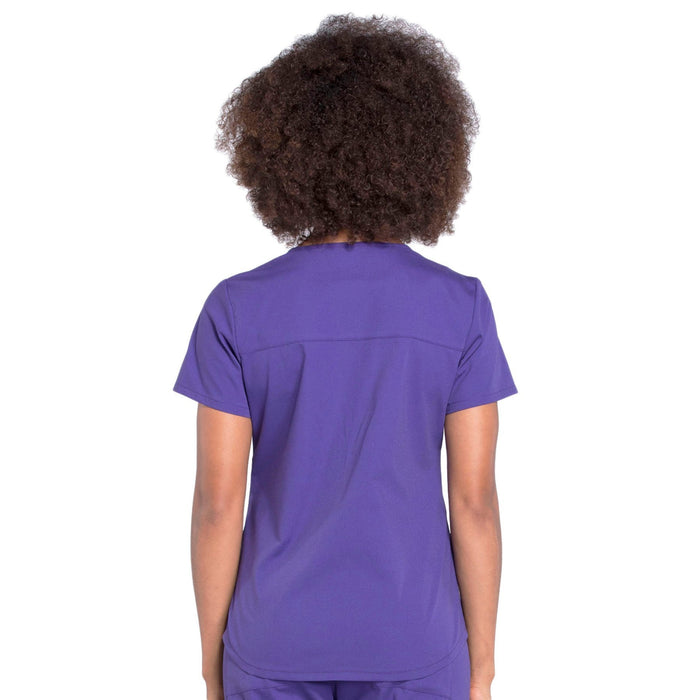 Cherokee Workwear Professionals WW665 Scrubs Top Women's V-Neck Grape 3XL
