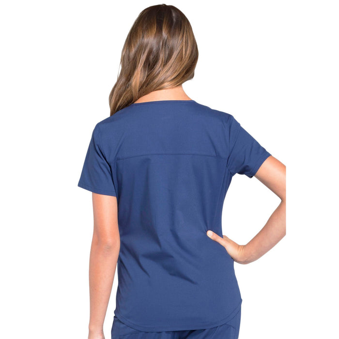 Cherokee Workwear Professionals WW665 Scrubs Top Women's V-Neck Navy 3XL