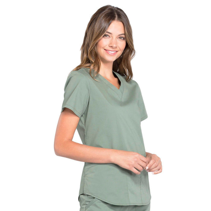 Cherokee Workwear Professionals WW665 Scrubs Top Women's V-Neck Olive 5XL