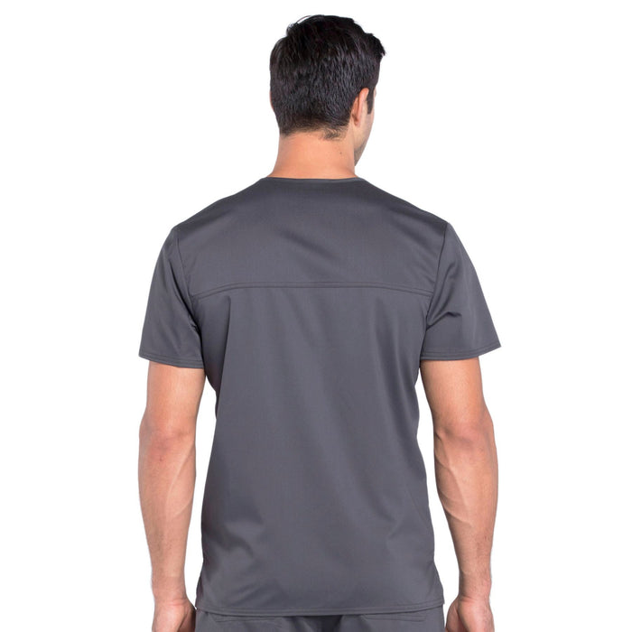 Cherokee Workwear Revolution WW670 Scrubs Top Men's V-Neck Pewter 3XL