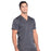 Cherokee Workwear Revolution WW670 Scrubs Top Men's V-Neck Pewter 5XL