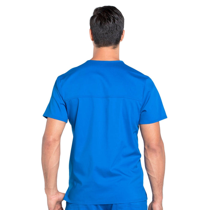 Cherokee Workwear Revolution WW670 Scrubs Top Men's V-Neck Royal 3XL