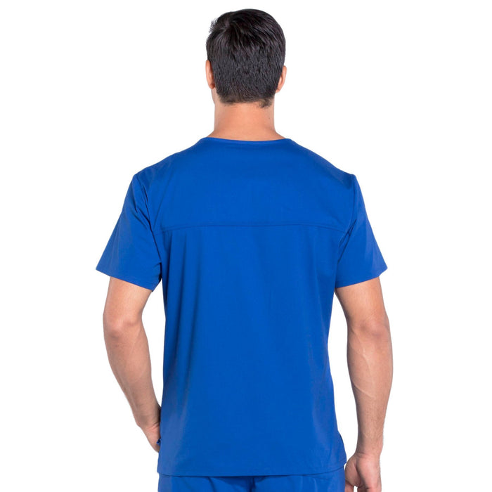 Cherokee Workwear Professionals WW675 Scrubs Top Men's V-Neck Galaxy Blue 3XL