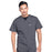 Cherokee Workwear Professionals WW675 Scrubs Top Men's V-Neck Pewter