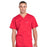 Cherokee Workwear Professionals WW675 Scrubs Top Men's V-Neck Red