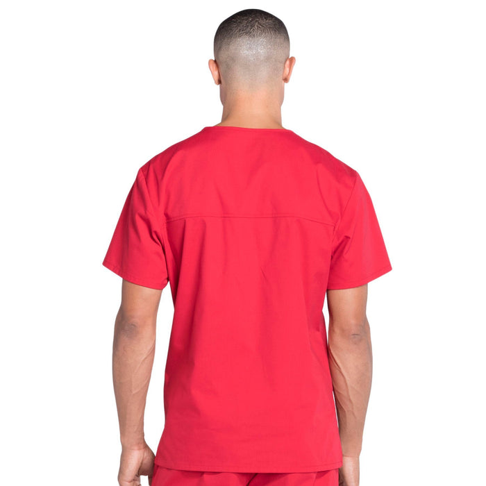 Cherokee Workwear Professionals WW675 Scrubs Top Men's V-Neck Red 3XL