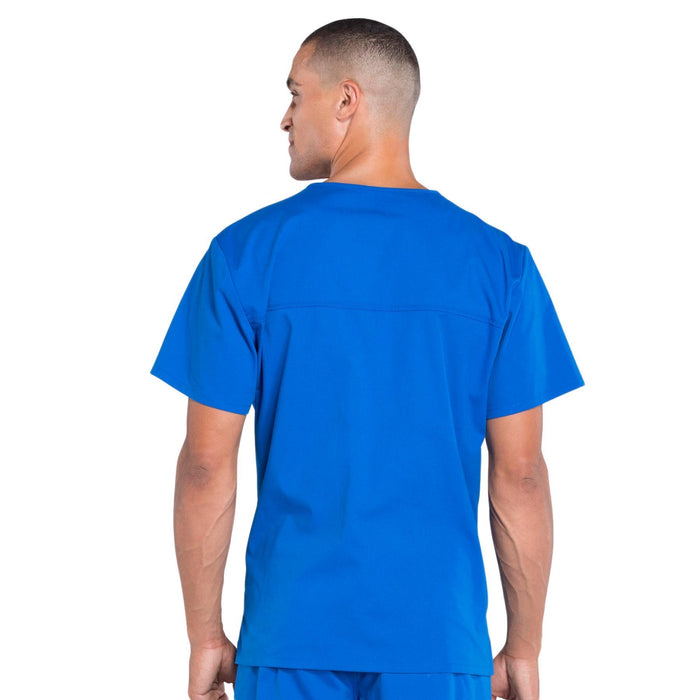 Cherokee Workwear Professionals WW675 Scrubs Top Men's V-Neck Royal 3XL
