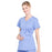 Cherokee Workwear Professionals WW685 Scrubs Top Maternity Mock Wrap Ciel Blue L