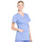 Cherokee Workwear Professionals WW685 Scrubs Top Maternity Mock Wrap Ciel Blue M