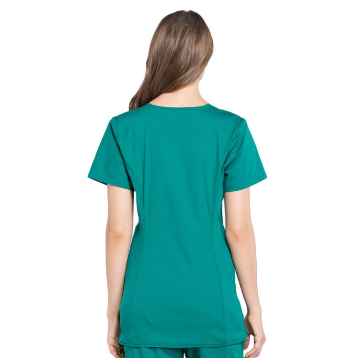 Cherokee Workwear Professionals WW685 Scrubs Top Maternity Mock Wrap Hunter Green 3XL