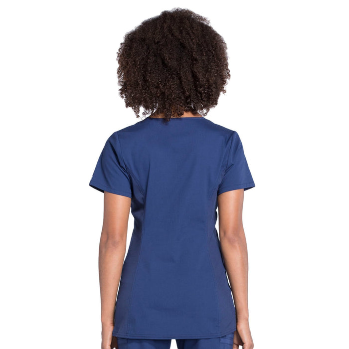 Cherokee Workwear Professionals WW685 Scrubs Top Maternity Mock Wrap Navy 3XL