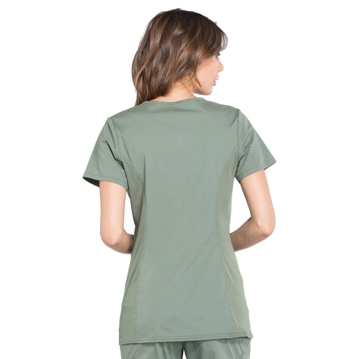 Cherokee Workwear Professionals WW685 Scrubs Top Maternity Mock Wrap Olive 3XL