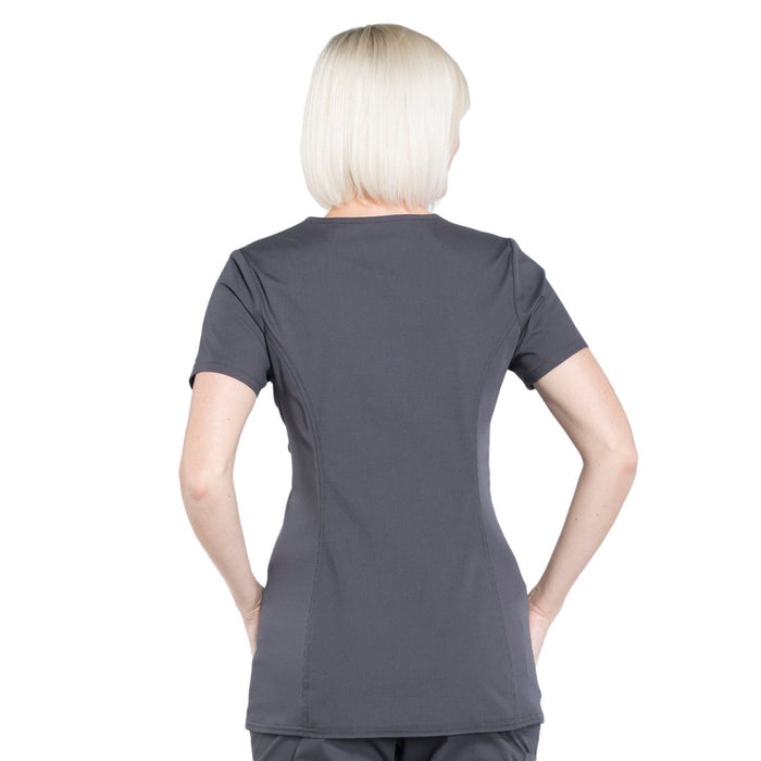 Cherokee Workwear Professionals WW685 Scrubs Top Maternity Mock Wrap Pewter 3XL