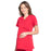 Cherokee Workwear Professionals WW685 Scrubs Top Maternity Mock Wrap Red L