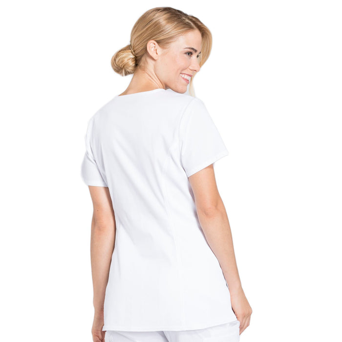 Cherokee Workwear Professionals WW685 Scrubs Top Maternity Mock Wrap White 3XL