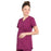 Cherokee Workwear Professionals WW685 Scrubs Top Maternity Mock Wrap Wine L