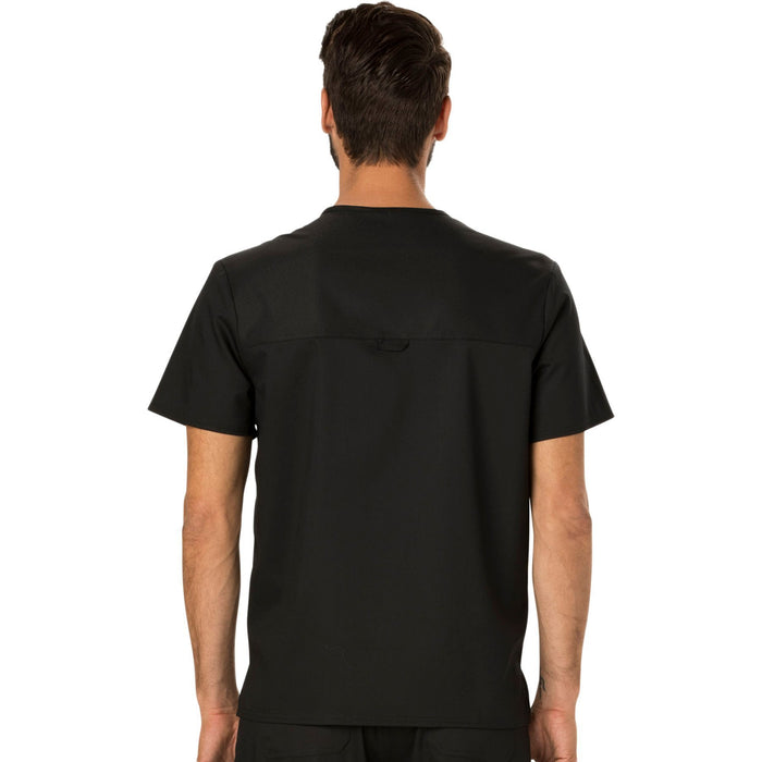 Cherokee Workwear Revolution WW690 Scrubs Top Men's V-Neck Black 3XL