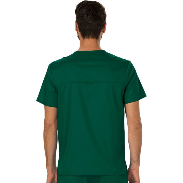 Cherokee Workwear Revolution WW690 Scrubs Top Men's V-Neck Hunter Green 3XL