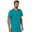 Cherokee Workwear Revolution WW690 Scrubs Top Men's V-Neck Teal Blue 4XL