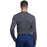 Cherokee Workwear Professionals WW700 Underscrubs Men's Knit Pewter L