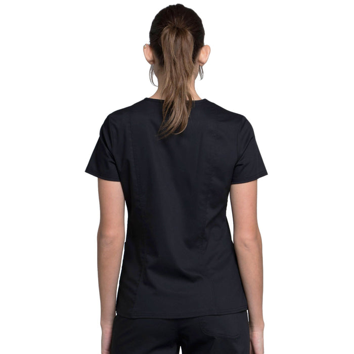 Cherokee Workwear Revolution WW710 Scrubs Top Women's V-Neck Black 3XL