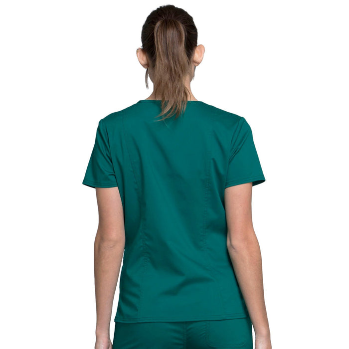 Cherokee Workwear Revolution WW710 Scrubs Top Women's V-Neck Hunter Green 3XL