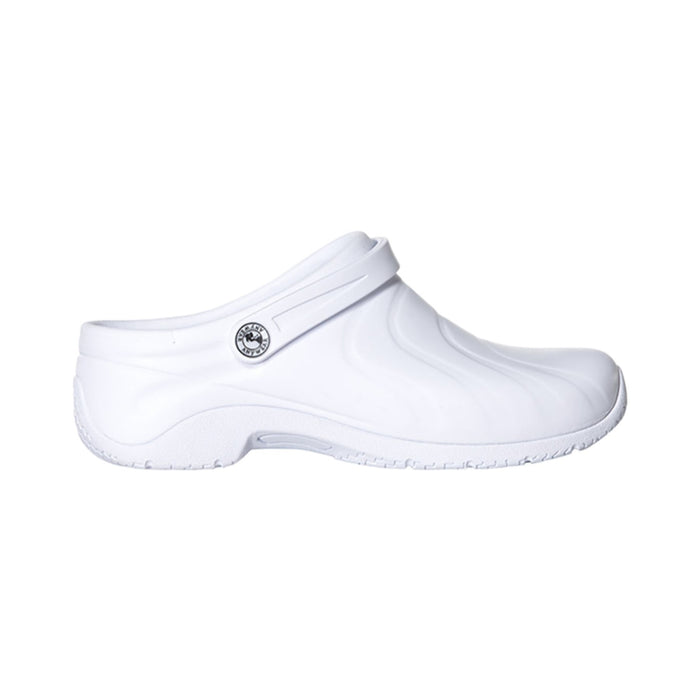 Anywear ZONE Footwear Women's Injected Clog w/Backstrap White 12