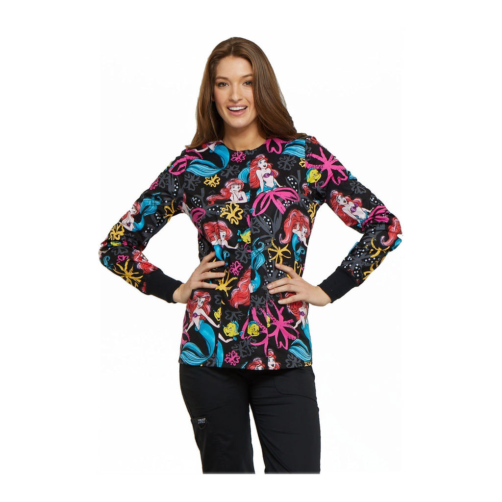 Tooniforms Jackets Tooniforms - Disney Snap Front Warm-Up Jacket Ariel's Garden Jackets
