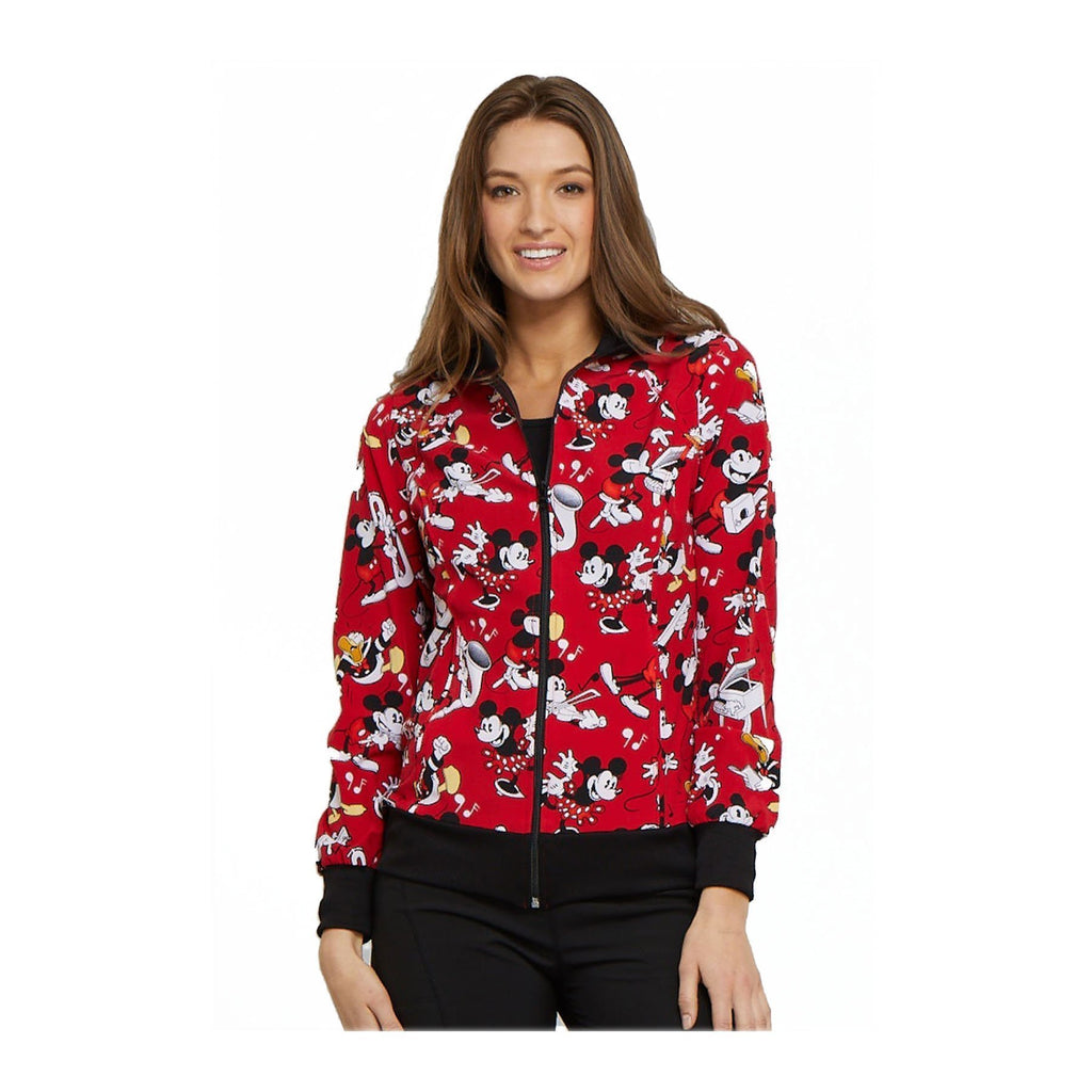 Tooniforms Jackets Tooniforms - Disney Zip Front Warm-up Jacket Heritage Mickey Jackets