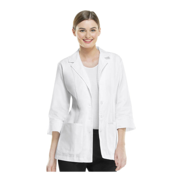 "Cherokee Lab Coats Professional Whites 29"" 3/4 Sleeve Lab Coat White Lab Coats"