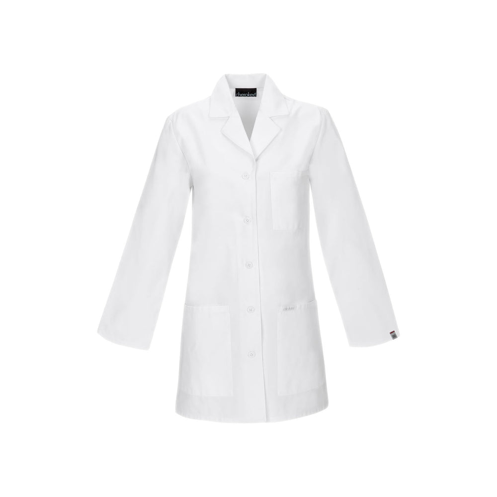 "Cherokee Lab Coats Professional Whites with Certainty 32"" Lab Coat White Lab Coats"