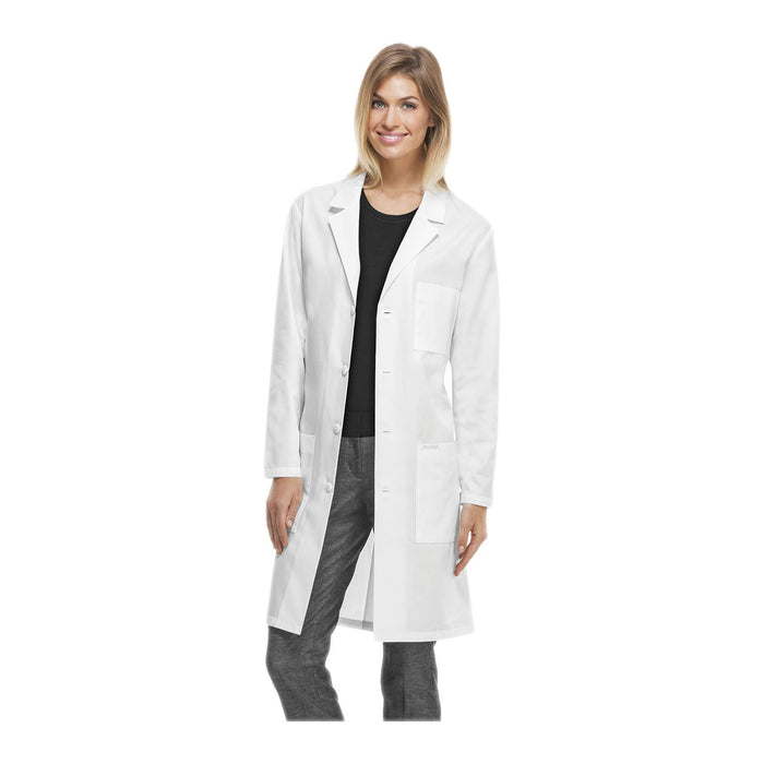 "Cherokee Lab Coats Professional Whites with Certainty Plus 40"" Unisex Lab Coat White Lab Coats"