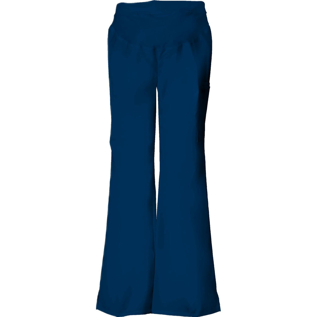 ba1174e005e Cherokee Scrub Pants Flexibles Maternity Knit Waist Pull-On Pant Navy Pant