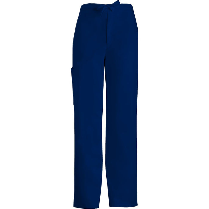 Cherokee Scrub Pants Luxe for Men Fly Front Drawstring Pant Navy Pant