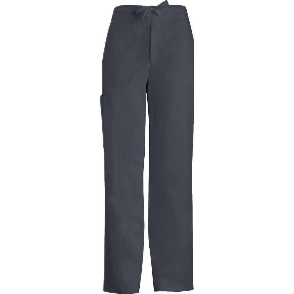 Cherokee Scrub Pants Luxe for Men Fly Front Drawstring Pant Pewter Pant