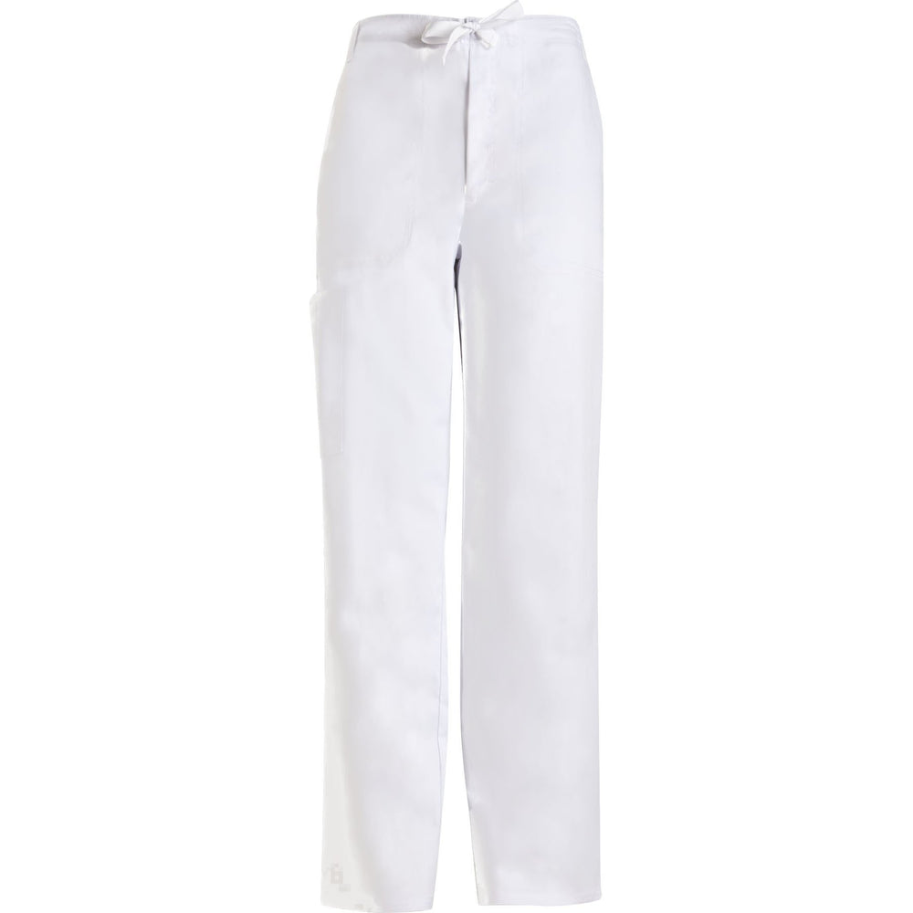 Cherokee Scrub Pants Luxe for Men Fly Front Drawstring Pant White Pant