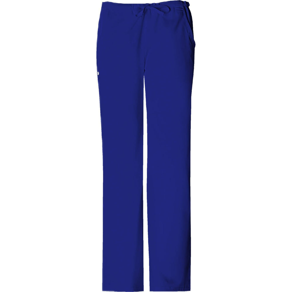 Cherokee Scrub Pants Luxe Low Rise Straight Leg Drawstring Pant Galaxy Blue Pant