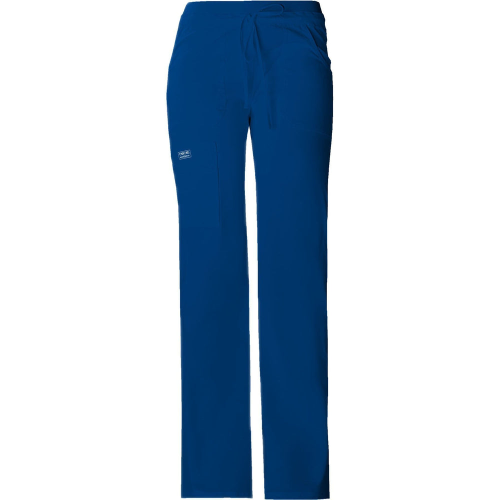 Cherokee Workwear Pant WW Core Stretch Contemporary Fit Low Rise Drawstring Cargo Pant Galaxy Blue Pant